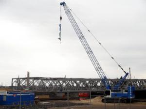 Baustelle Brücke Hafencity Universitär 2011