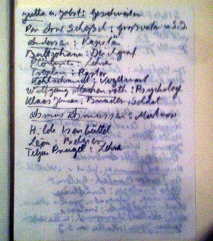 Deutschstunde Personen Liste für Zusammenfassung