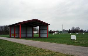 Nur wenige feste Gebäude gibt es auf dem Messegelände der Tarmstedter Ausstellung