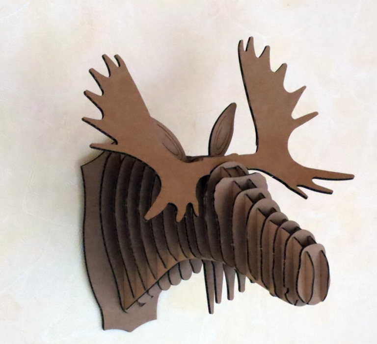 elch aus Pappe als Bausatz basteln