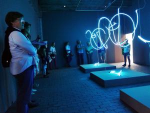 Kunst Installation mit Licht