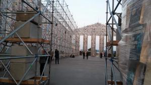 documenta kunstwerk tempel installation parthenon Kassel d14 2017
