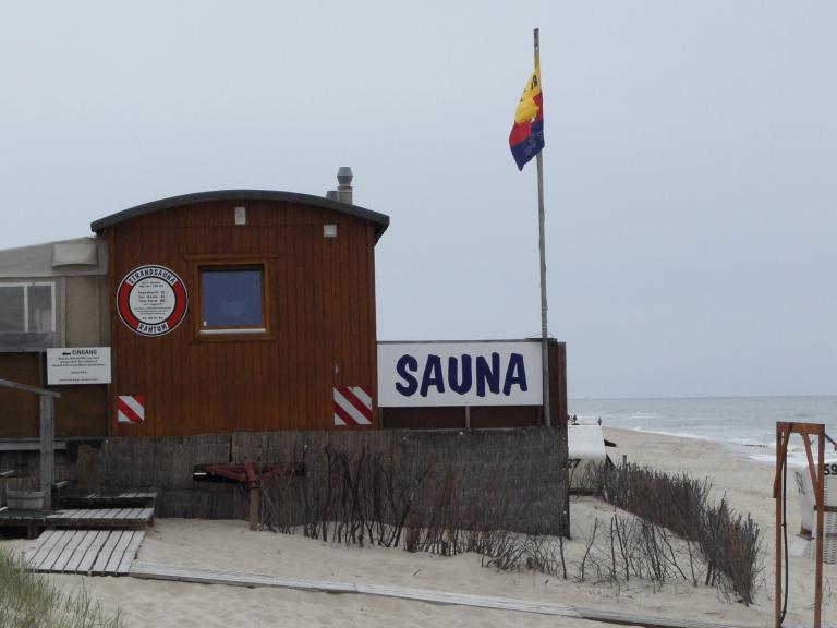 sauna am strand: sylter besonderheit